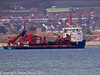 06 March 2011. Seen from the Oysterbed site, the Arco Dee making its way to the Aggregates Wharf at the Hermitage Stream. Copyright Peter Drury 2011
