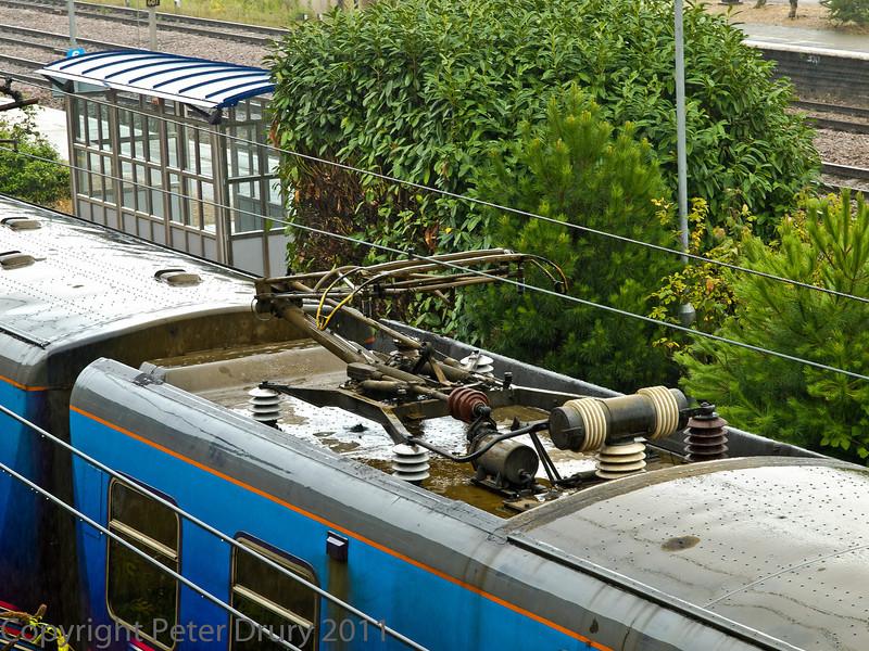 04 Aug 2011. Class 313 EMU, pantograph detail.