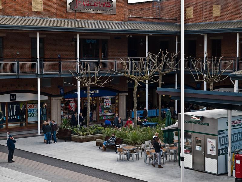 The square, Gunwharf, Portsmouth. Copyright Peter Drury 2010
