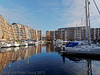08 January 2012 Port Solent East residential block. The apartments with their private moorings.