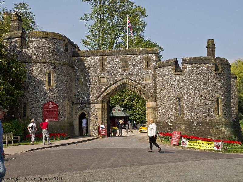 17 April 2011. Castle Entrance.  Copyright Peter Drury 2011
