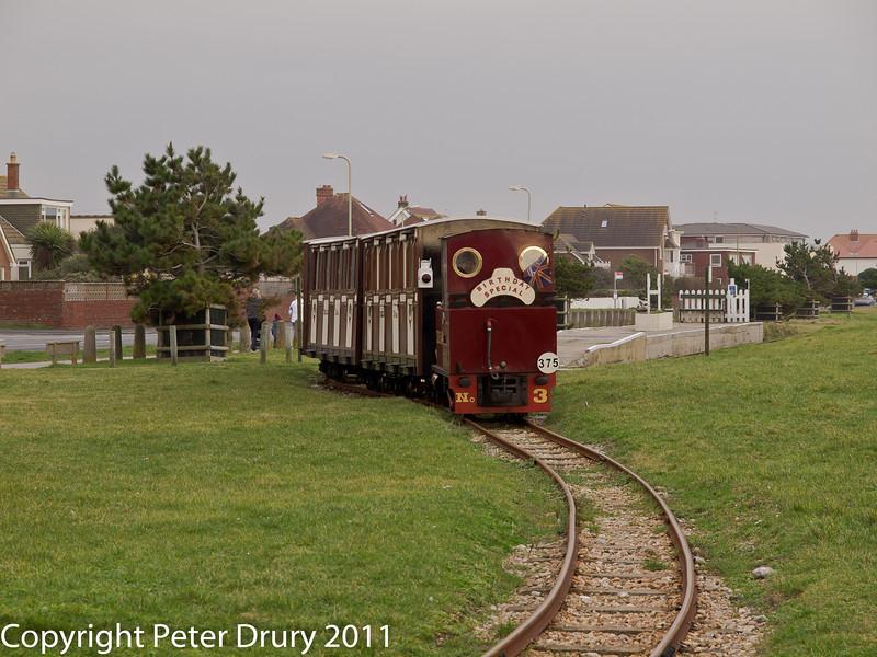 20 February 2011. Hayling seaside railway. Copyright Peter Drury 2011
