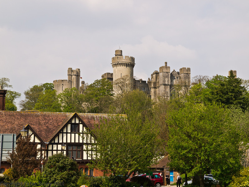 17 April 2011. The castle taken from the road bridge over the River Arun.  Copyright Peter Drury 2011