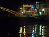 Aggregates wharf at night. Copyright Peter Drury 2009