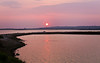 28 April 2011. Panorama at dusk over the Oysterbeds. Two portrait images stitched together. Copyright Peter Drury 2011