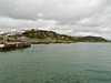 Mevagissey. Taken from the southern outer harbour breakwater looking north. The northern outer harbour breakwater is to the left.