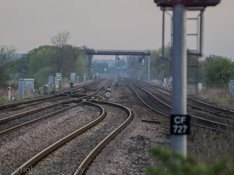 The ladder crossings to the north of the station.