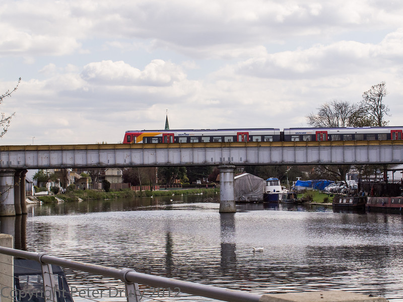 The rail bridge over the River Thames.