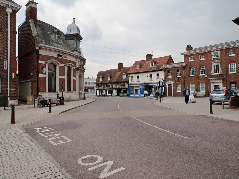 Swan Street. Copyright Peter Drury 2010<br /> This road leads out from The Square towards the west and Winchester.