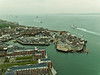 01 Mar 2011 Views from the Spinnaker Tower. A view of old Portsmouth and the quays at the harbour entrance.