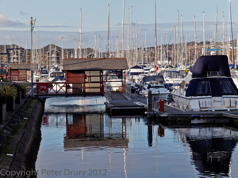 08 January 2012 Port Solent. Marina adjacent to the shops at the 'boardwalk'.