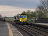 Freightliner 66 545 passes through platform 1, light engine, heading in the Sherburn-in-Elmet direction.