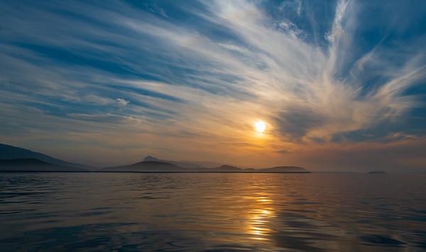 Johnstone Straight sunset