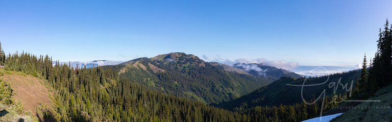 Hurricane Hill Panoramic - Olympic National Park - 4 photos stitched together (Yes, that is snow to the lower right in July 2019)