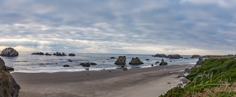 Bandon, Oregon - Stitch of 4 Photographs