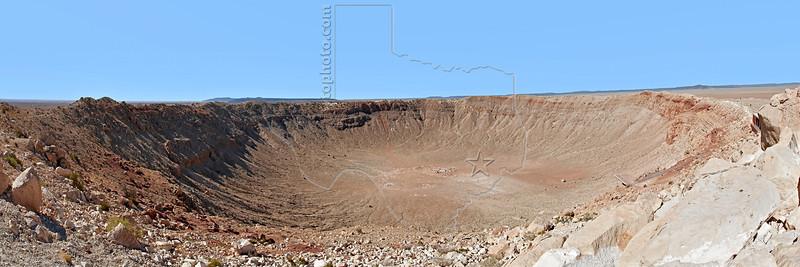 Meteor Crater Panorama,<br /> near Winslow, Arizona