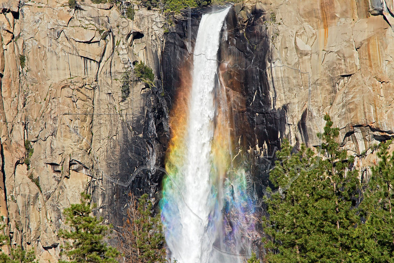 Bridalveil Fall with Rainbow,<br /> Yosemite National Park, 2011