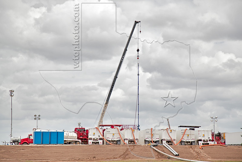 Frac Job Eagle Ford Shale Well<br /> Keach Gas Unit No. 2<br /> near Nordheim, TX
