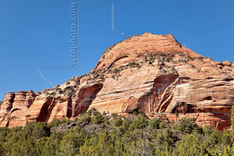 Tabernacle Dome,<br /> from Kolob Terrace, Zion National Park, Utah