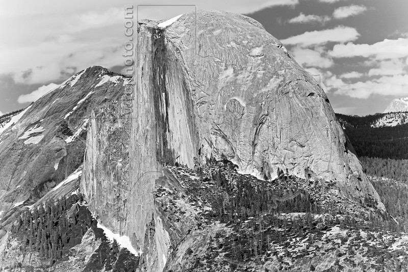 Half Dome from Glacier Point, Black and White,<br /> Yosemite National Park, 2011