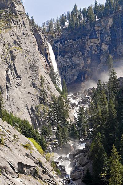 Illilouette Falls from Mist Trail,<br /> Yosemite National Park, 2011