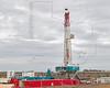 Trinidad Rig Drilling Eagle Ford Shale Well<br /> near Nordheim, TX