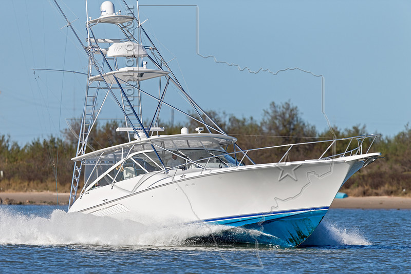 Offshore Fishing Boat, <br /> Freeport Jetty Channel, Texas