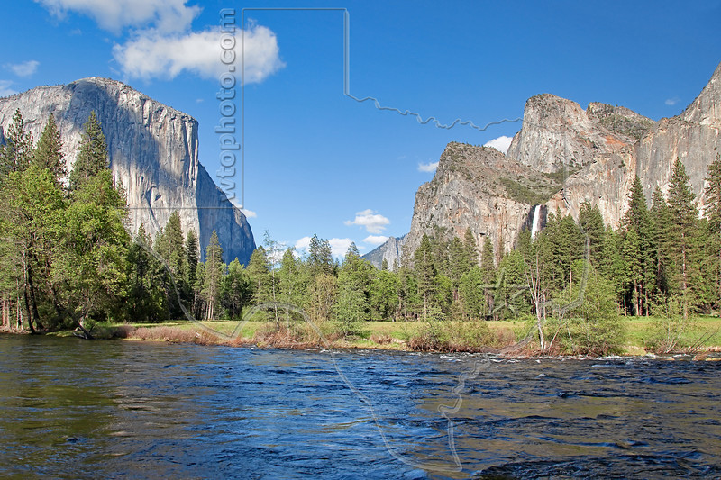 Valley View - El Capitan and Bridalveil Fall,<br /> Yosemite National Park, 2011