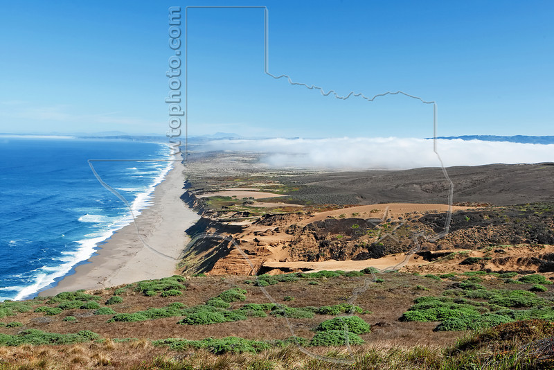 Point Reyes Beach from Headlands,<br /> Point Reyes National Seashore, California