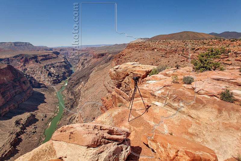 Tripod and Camera at Toroweap (Tuweep) Overlook,<br /> Grand Canyon National Park, Arizona
