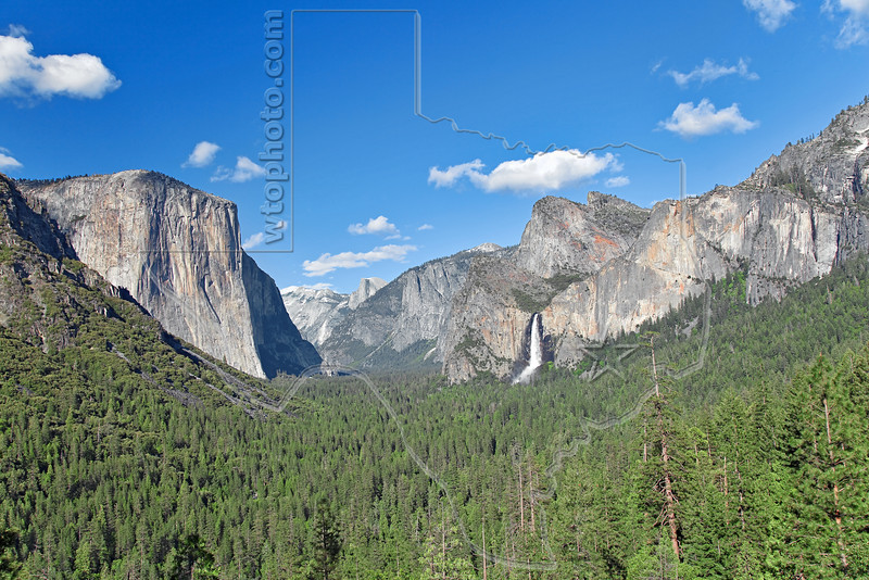 Tunnel View - El Capitan and Bridalveil Fall,<br /> Yosemite National Park, 2011
