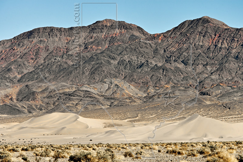 Ibex Sand Dunes,<br /> Death Valley National Park, California