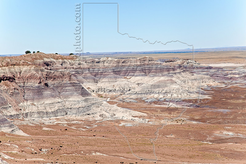 Painted Desert, Badlands,<br /> Petrified Forest National Park