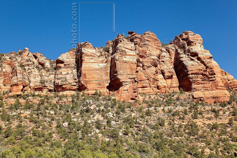 Sandstone Formations,<br /> Kolob Terrace, Zion National Park, Utah