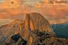 Half Dome from Glacier Point, Last Light Sunset,<br /> Yosemite National Park, Califormia
