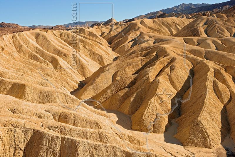 Zabriskie Point, Sunset Light,<br /> Death Valley National Park, California
