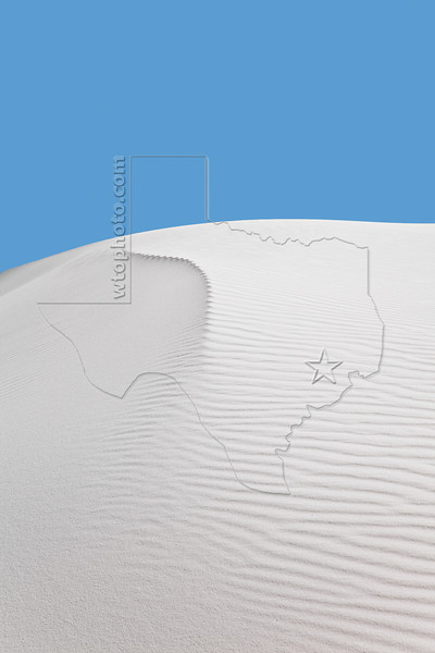 Gypsum Sand Dune,<br /> White Sands National Monument, New Mexico