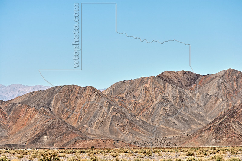 Striped Mountains,<br /> Death Valley National Park, California