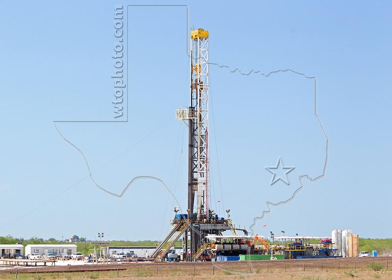 Nabors Rig F13,  Drilling Eagle Ford Shale Well<br /> Keach Gas Unit No. 1<br /> near Nordheim, TX