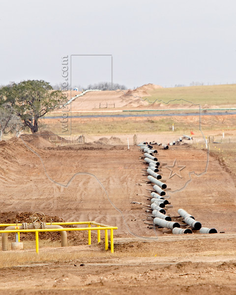 Pipeline Construction for Eagle Ford Shale Production,<br /> near Nordheim, TX