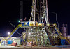 Nabors Rig 732,  Night, Drilling Eagle Ford Shale Well<br /> near Nordheim, TX