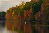 Autumn Canoe Serenity