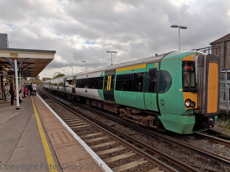 29 Oct 2011 Class 450 EMU on a London Waterloo to Portsmouth Harbour service.