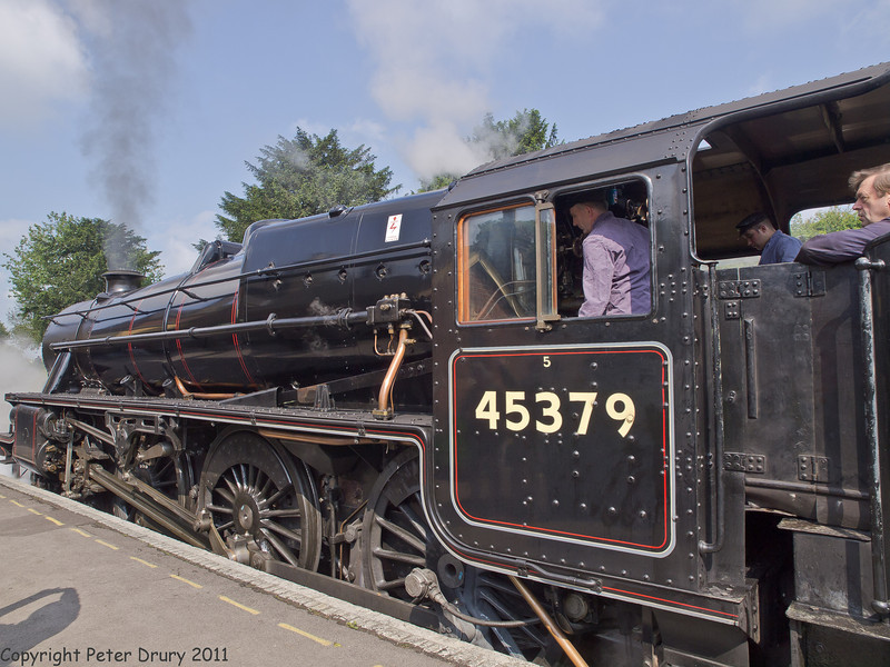11 Jun 2011. War on the Line 2011. Class 5 at Ropley awaiting light engine move to Alresford. Copyright Peter Drury 2011