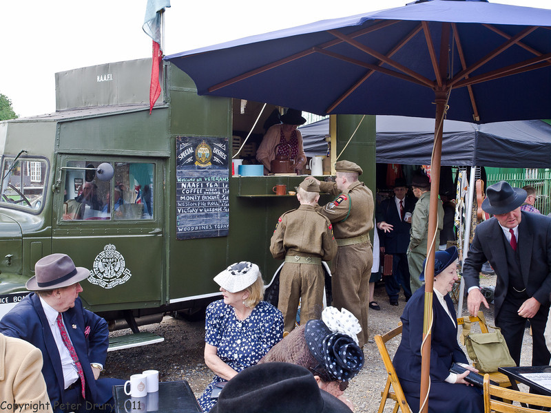 11 Jun 2011. War on the Line. Uk Forces and the NAAFI (Navy, Army And Airforce Institution) have a long and cherished association. This mobile cafe was open to servicepersonnel, Re-enactors and retired service personnel. I was re-acquanted with their famous tea. Copyright Peter Drury 2011