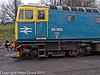 26 January 2011. Ropley:- 33 053, BR Class 33.  Copyright Peter Drury 2011