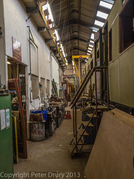 Carriage Works at Tenterden Railway