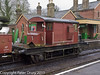 26 January 2011. Ropley:- SR Brake Van.  Copyright Peter Drury 2011<br /> This van was one of three goods vehicles parked in the Down platform line.