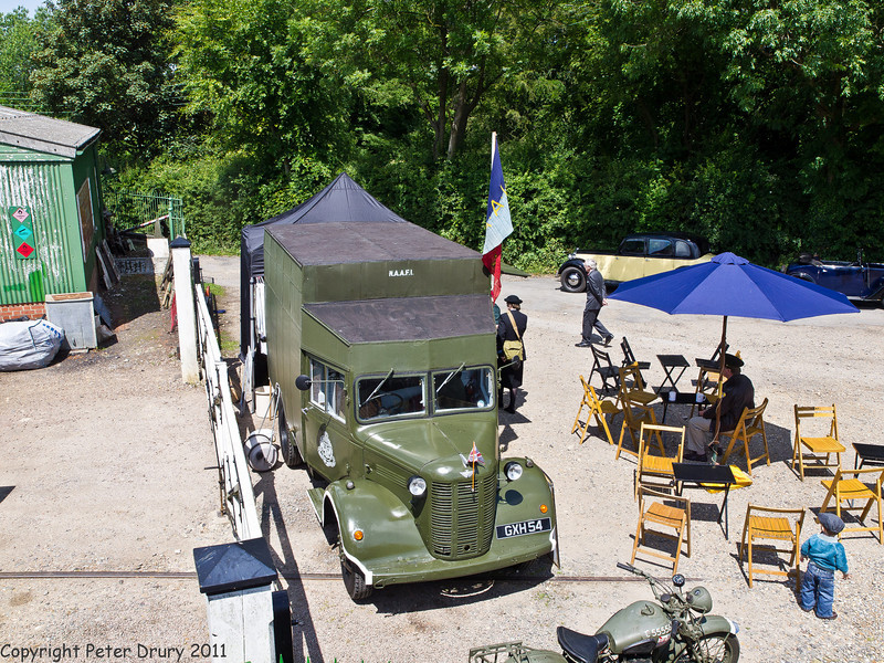 11 Jun 2011. War on the Line. The NAAFI was always a welcome sight. Copyright Peter Drury 2011