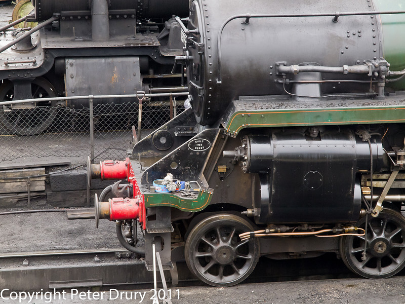 26 January 2011. Ropley:- 73096 BR Class 5MT awaiting next duty.  Copyright Peter Drury 2011